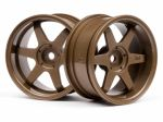 Felgi HPI TE37 WHEEL 26MM BRONZE (6MM OFFSET)