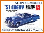 AMT 608 - 1951 Chevy Bel Air Convertible - 1/25