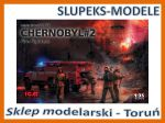 ICM 35902 - Chernobyl Fire Fighters (AC-40-137A firetruck, 4 figures, diorama base with base - 1/35
