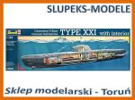 Revell 05078 - German Submarine U-Boot Typ XXI with Interieur 1/144